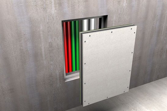 Access Hatches For Walls : Promat fire rated access panels fireboard for